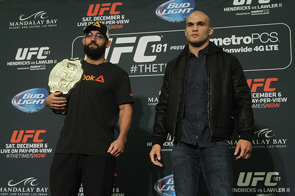 Johny-Hendricks-Robbie-Lawler-UFC-181-Media-Day-2
