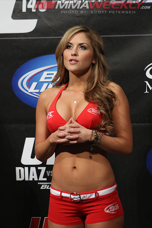 Ufc ring girl edith labelle hot