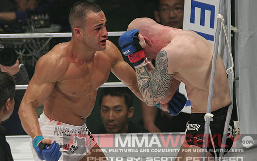 Eddie Alvarez and Joachim Hansen at Dream 3