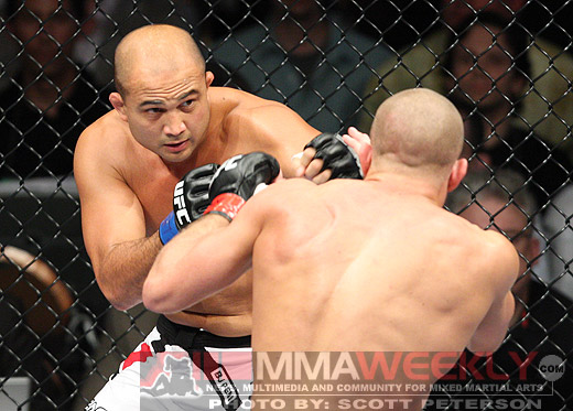 BJ Penn and Georges St. Pierre at UFC 94