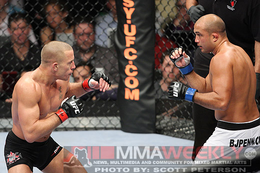 Georges St. Pierre and BJ Penn at UFC 94