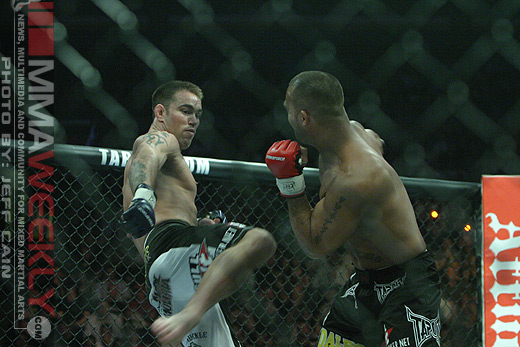 Jake Shields and Robbie Lawler at Strikeforce