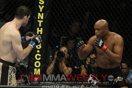 Anderson Silva and Forrest Griffin at UFC 101