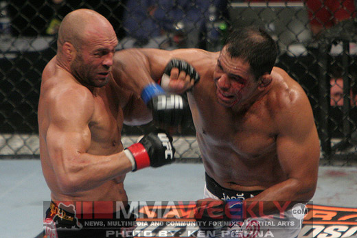 Randy Couture and Rodrigo Nogueira at UFC 102