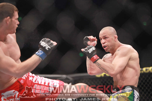 Michael Bisping and Wanderlei Silva at UFC 110