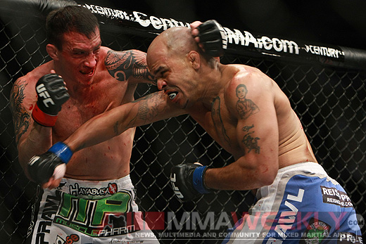 Jorge Rivera and Nate Quarry at UFC Fight Night 21