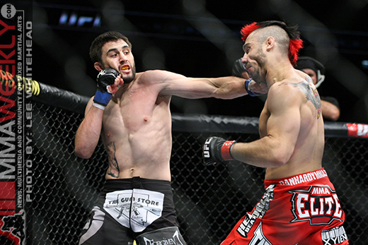 Carlos Condit and Dan Hardy at UFC 120