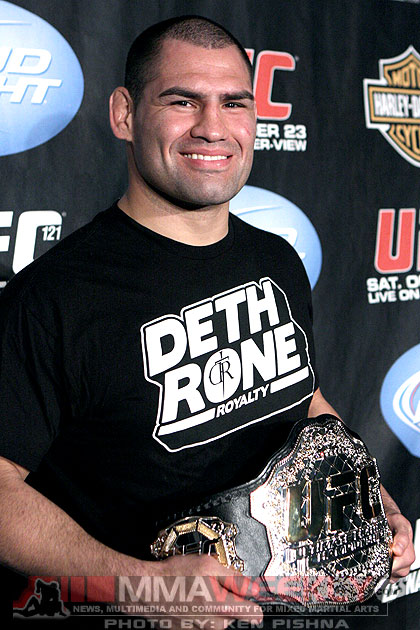 UFC heavyweight champion Cain Velasquez at UFC 121