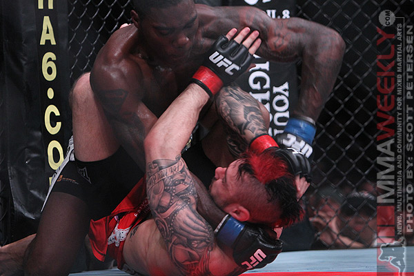 Anthony Johnson putting the beatdown on Dan Hardy