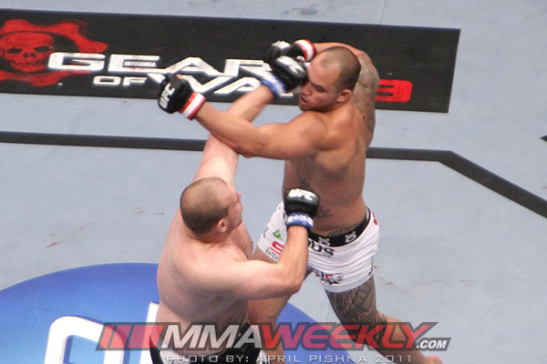 Travis Browne and Rob Broughton at UFC 135