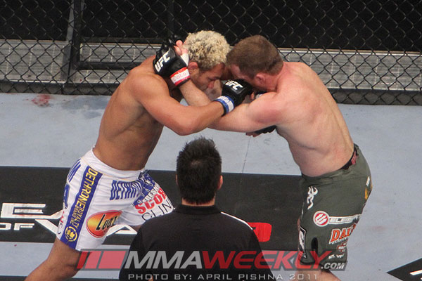 Josh Koscheck and Matt Hughes at UFC 135