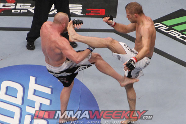 Nick Ring and Tim Boetsch at UFC 135