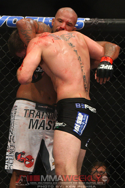Joey Beltran and Stipe Miocic at UFC 136