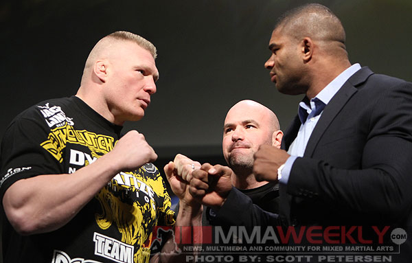 Brock Lesnar and Alistair Overeem - UFC 141