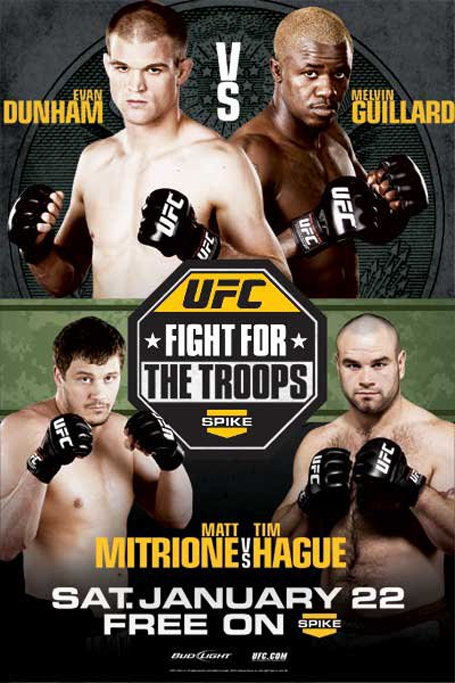 UFC Fight Night 23 poster, Fightfor thr Troops 2 poster