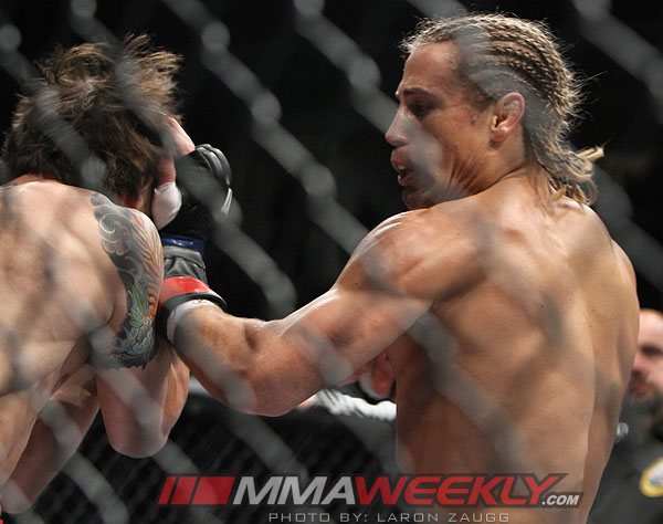 Urijah Faber and Brian Bowles at UFC 139