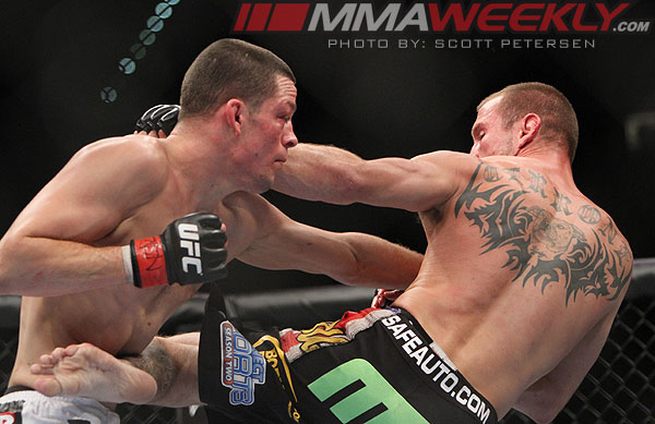 Nate Diaz and Donald Cerrone at UFC 141