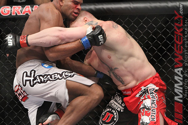Alistair Overeem and Brock Lesnar at UFC 141