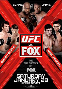 UFC on FOX 2 poster