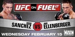 UFC on Fuel Sanchez vs Ellenberger horizontal poster