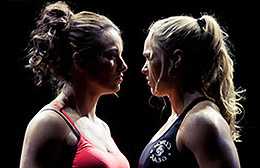 Miesha Tate and Ronda Rousey