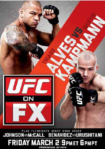 UFC on FX 2 poster