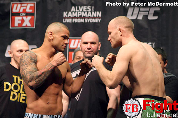 UFC on FX 2: Alves vs. Kampmann Weigh-in Results | MMAWeekly.com