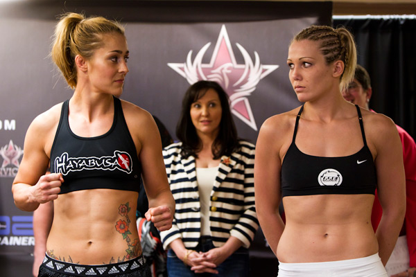 Marloes Coenen and Romy Ruyssen at Invicta FC 1