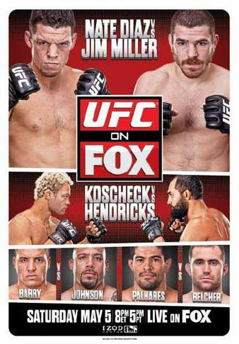 UFC on FOX 3 poster