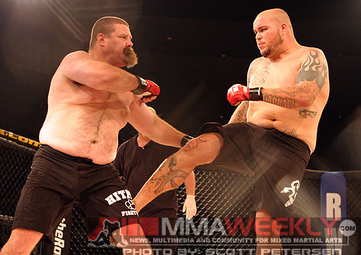 Cabbage Wesley Correia and Tank Abbott at Rumble On The Rock 7