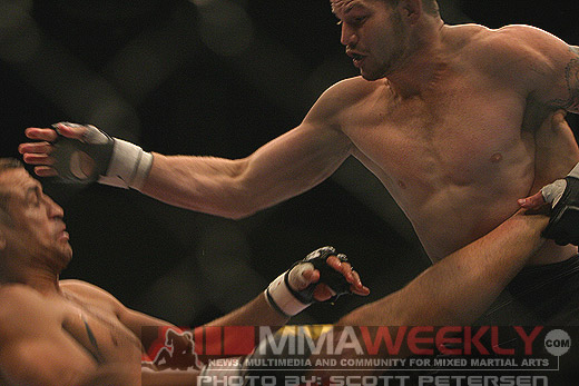 Nate Marquardt and Ivan Salaverry at The Ultimate Fighter