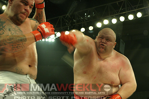 Butterbean and Cabbage Correira at Rumble On The Rock 8