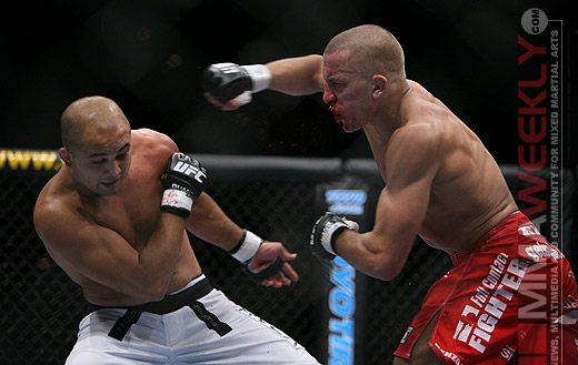 BJ Penn and Georges St. Pierre at UFC 58