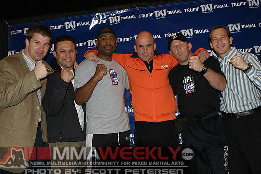Kurt Otto (owner of International Fight League), Renzo Gracie, Maurice Smith, Bas Rutten, Pat Militich, and Gareb Shamus (owner of IFL)
