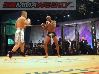 Tony Fryklund and Anderson Silva at Cage Rage 16