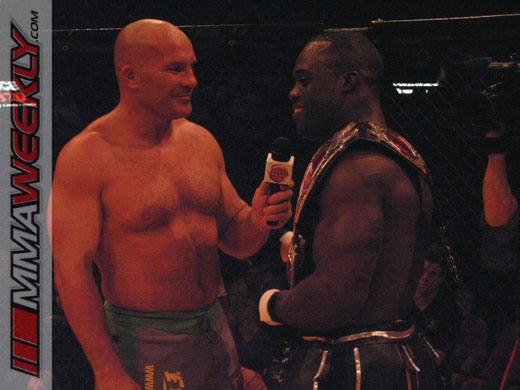 Ian Freeman interviews Melvin Manhoef after fight at Cage Rage 17