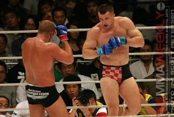 Mirko Cro Cop and Fedor at Pride Grand Prix in 2005