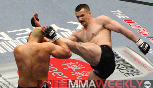Mirko Cro Cop and Eddie Sanchez at UFC 67