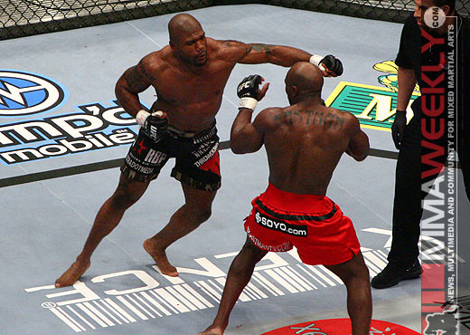 Quinton Jackson and Marvin Eastman at UFC 67