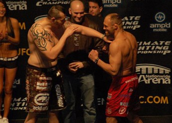 Tim Sylvia and Randy Couture at UFC 68