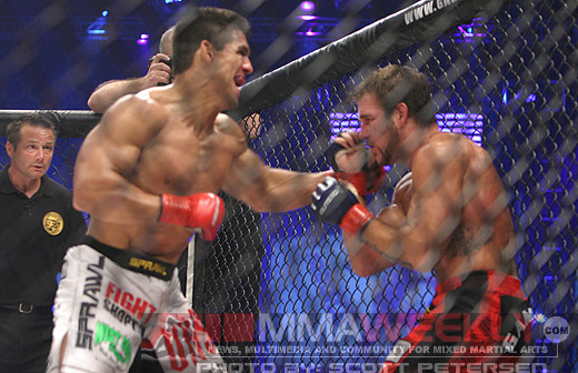 Frank Shamrock and Phil Baroni at Strikeforce/ Elite XC