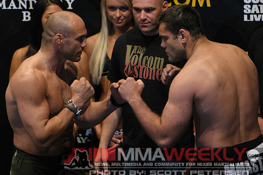 Randy Couture and Gabriel Gonzaga at UFC 74