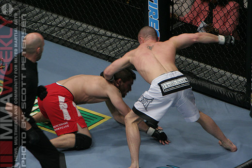 Chris Lytle and Kyle Bradley at UFC 81
