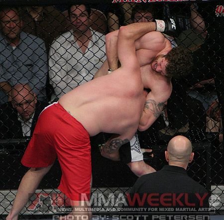 Nathan Marquardt and Jeremy Horn at UFC 81