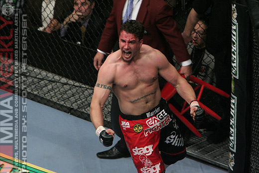 A victorious Frank Mir at UFC 81