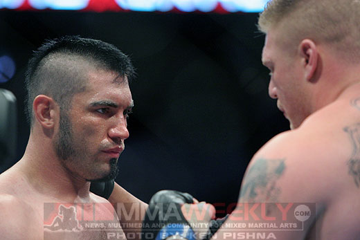 Heath Herring and Brock Lesnar at UFC 87