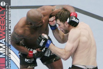 Quinton Jackson and Forrest Griffin at UFC 86