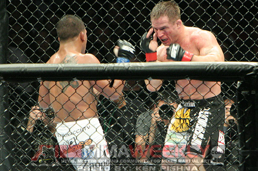 Sean Sherk and Tyson Griffin at UFC 90