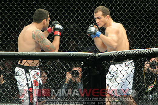 Junior dos Santos and Fabricio Werdum at UFC 90