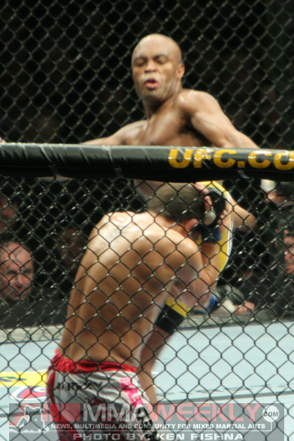Anderson Silva and Patrick Cote at UFC 90